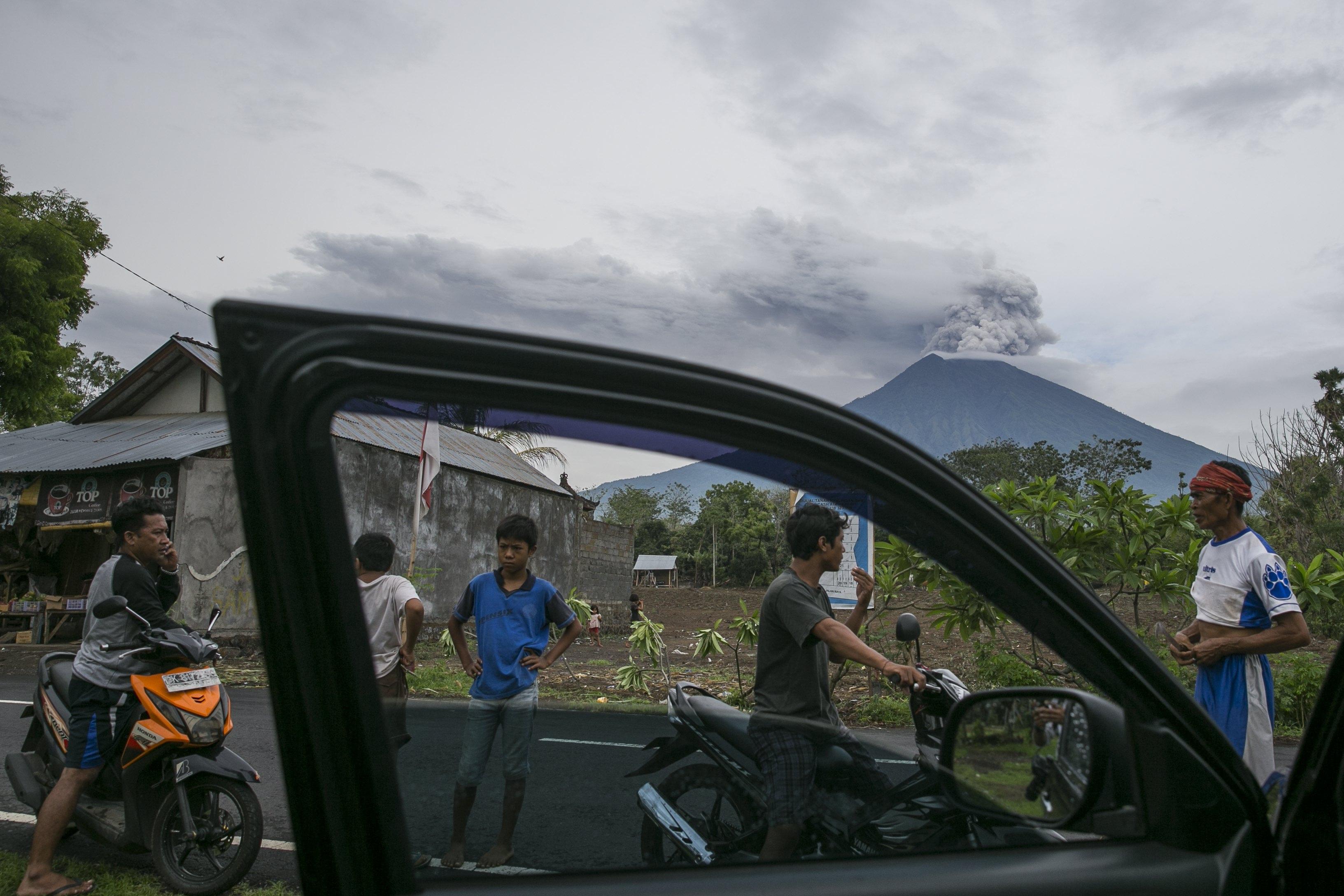 Mount Agung Eruption in Bali, Indonesia